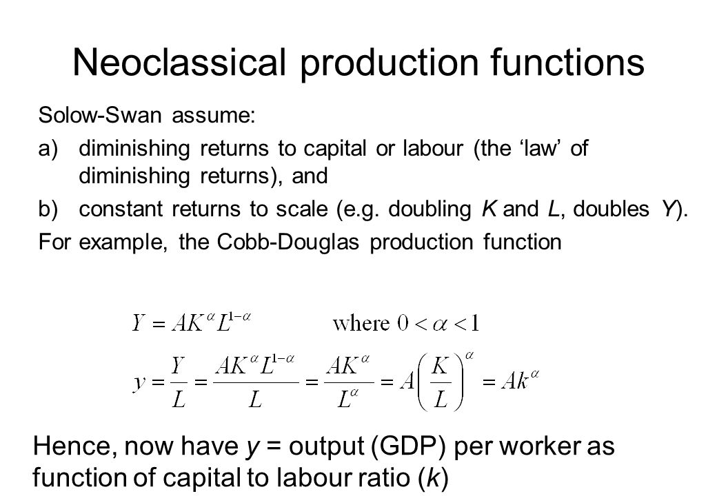 Neoclassical production functions
