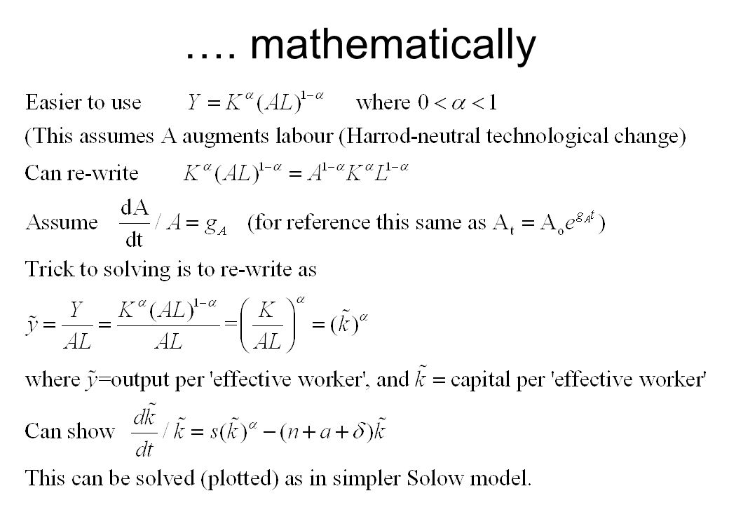 …. mathematically