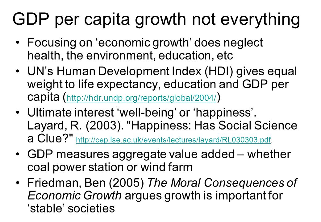 GDP per capita growth not everything