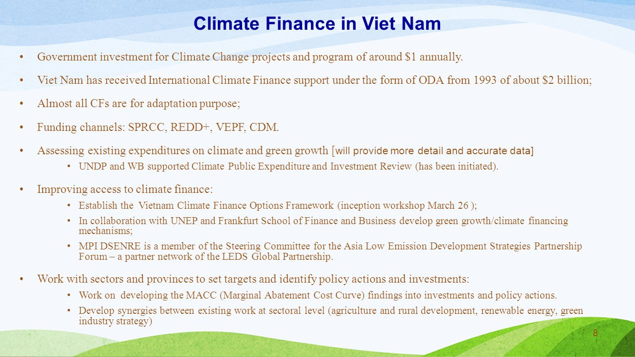 Climate Finance in Viet Nam