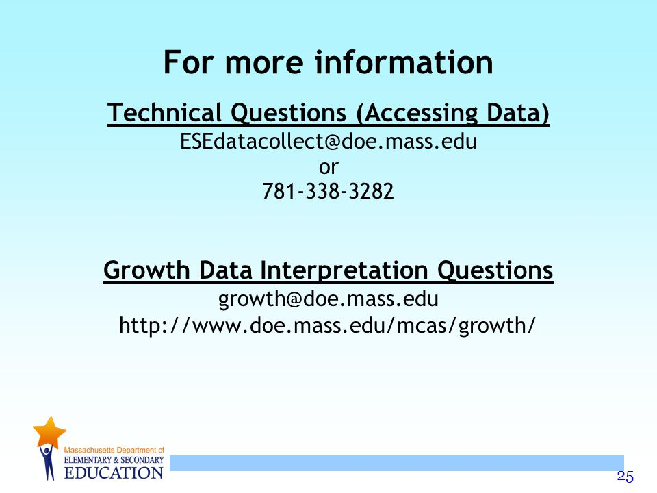 For more information Technical Questions (Accessing Data)