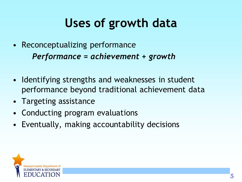 Uses of growth data Reconceptualizing performance
