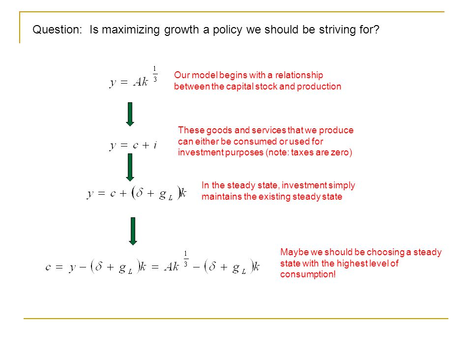 Question: Is maximizing growth a policy we should be striving for