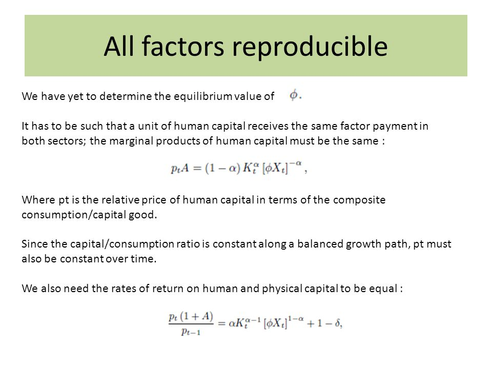 All factors reproducible