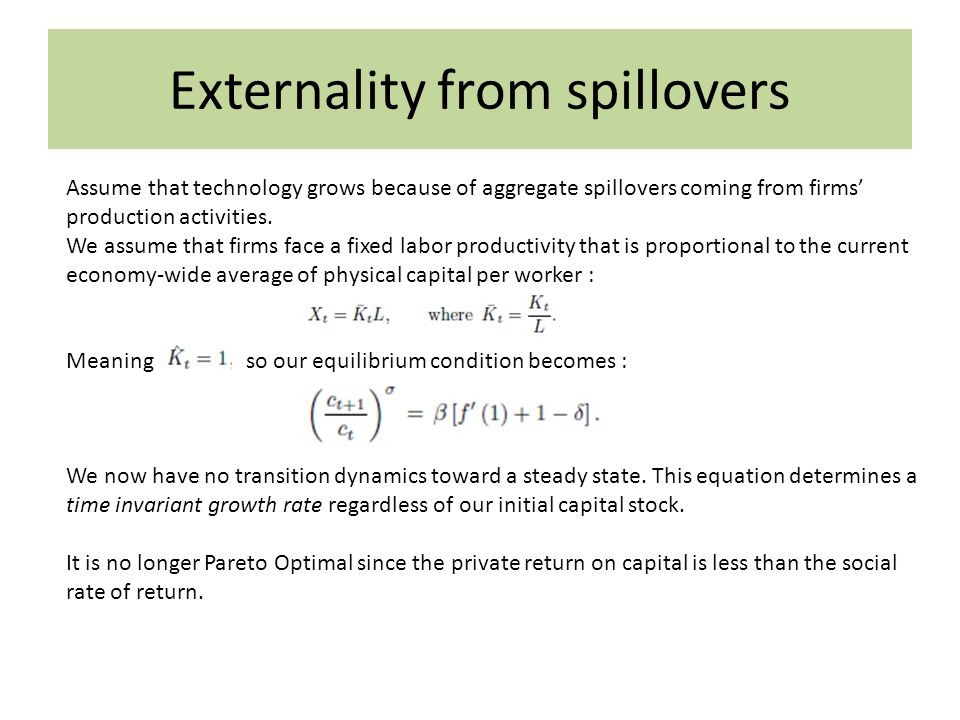 Externality from spillovers