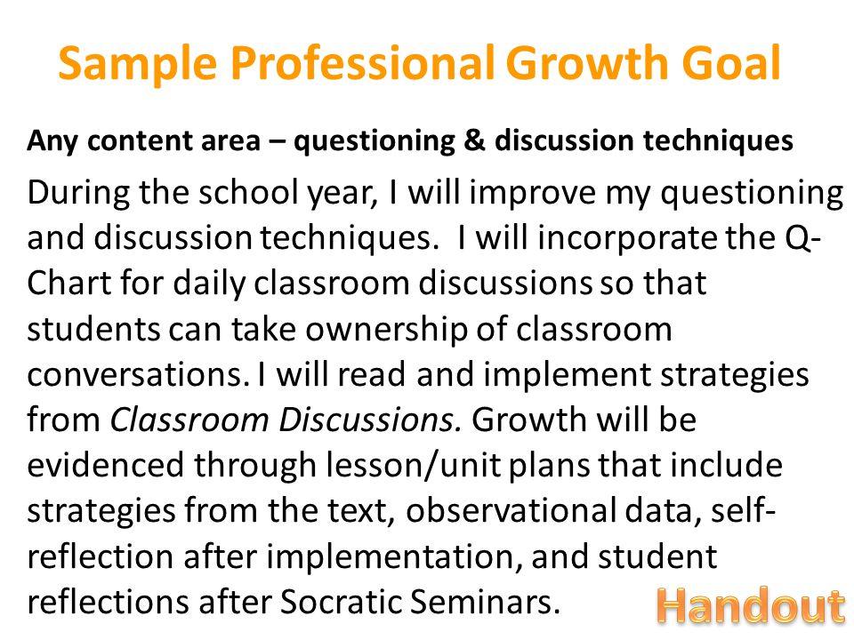 Sample Professional Growth Goal