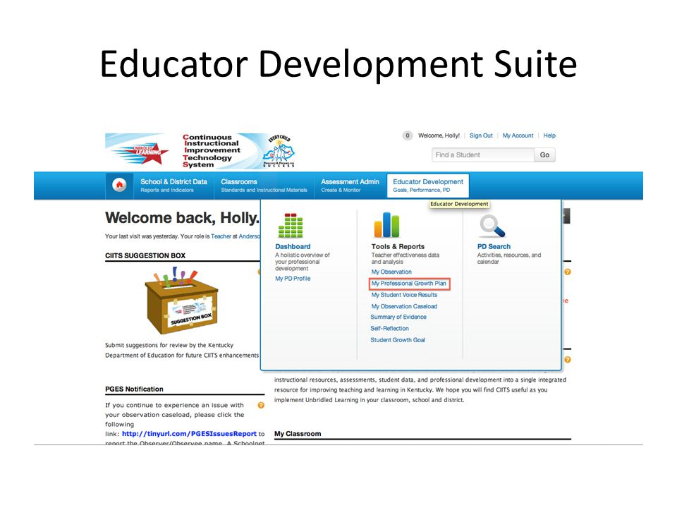 Educator Development Suite