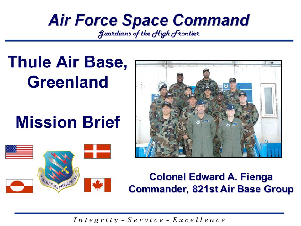 Thule Air Base, Greenland Mission Brief