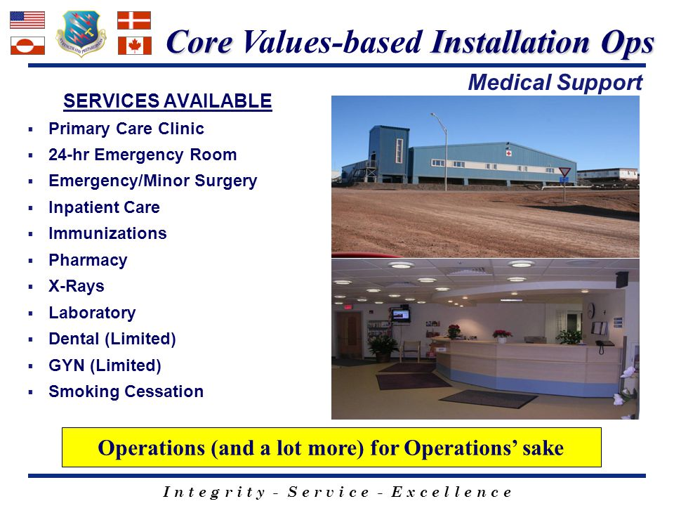 Core Values-based Installation Ops