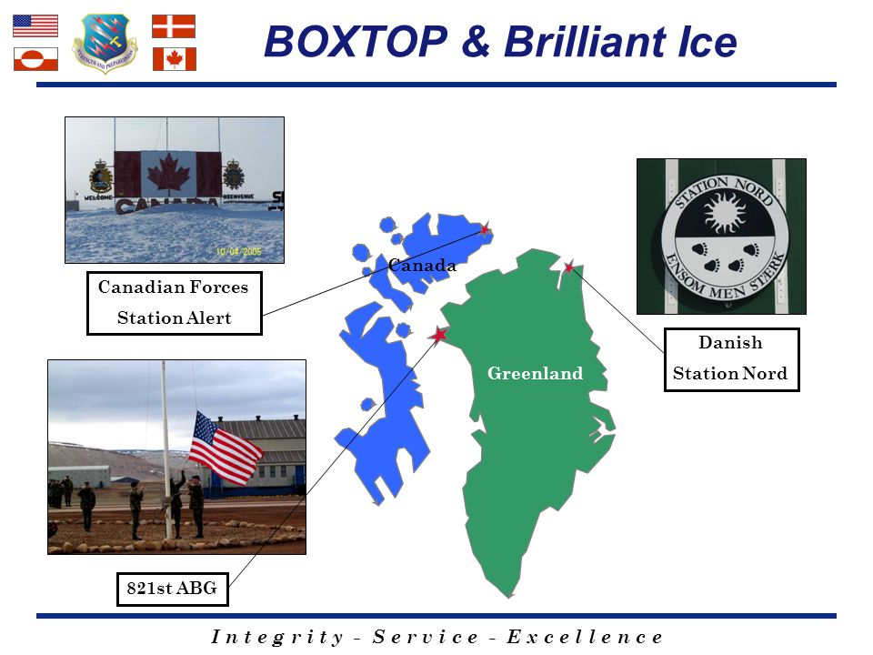 BOXTOP & Brilliant Ice Canada Canadian Forces Station Alert Danish