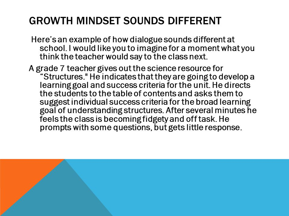 Growth Mindset sounds different