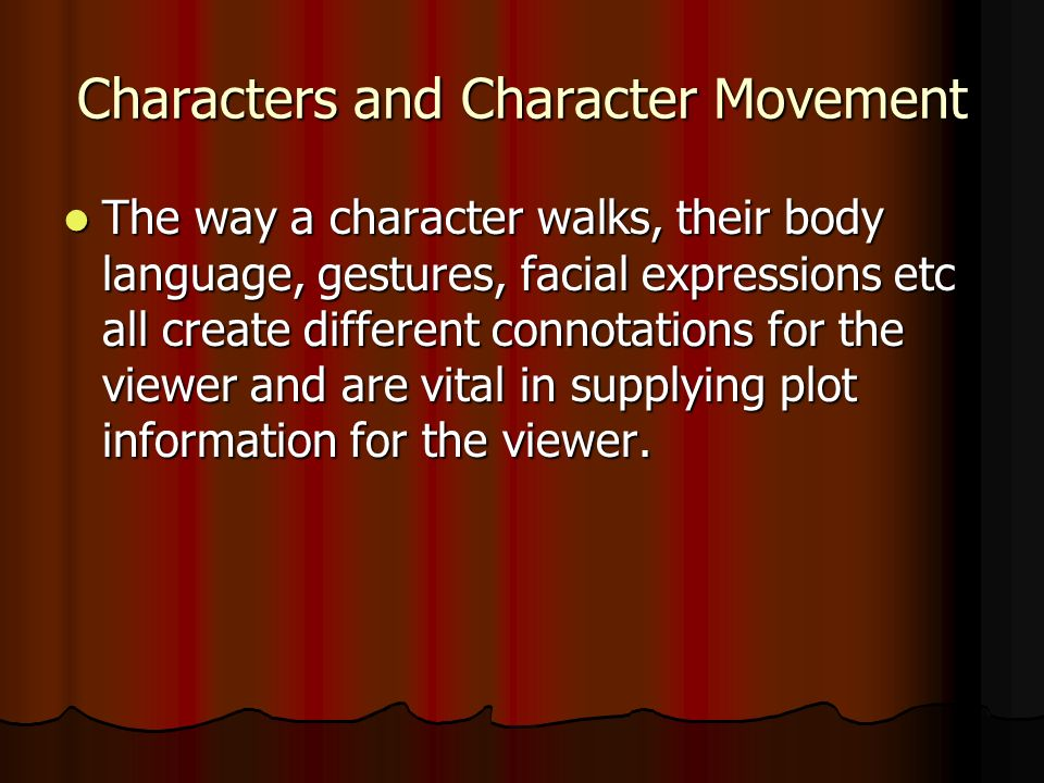 Characters and Character Movement