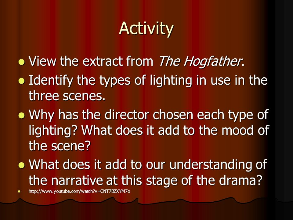 Activity View the extract from The Hogfather.