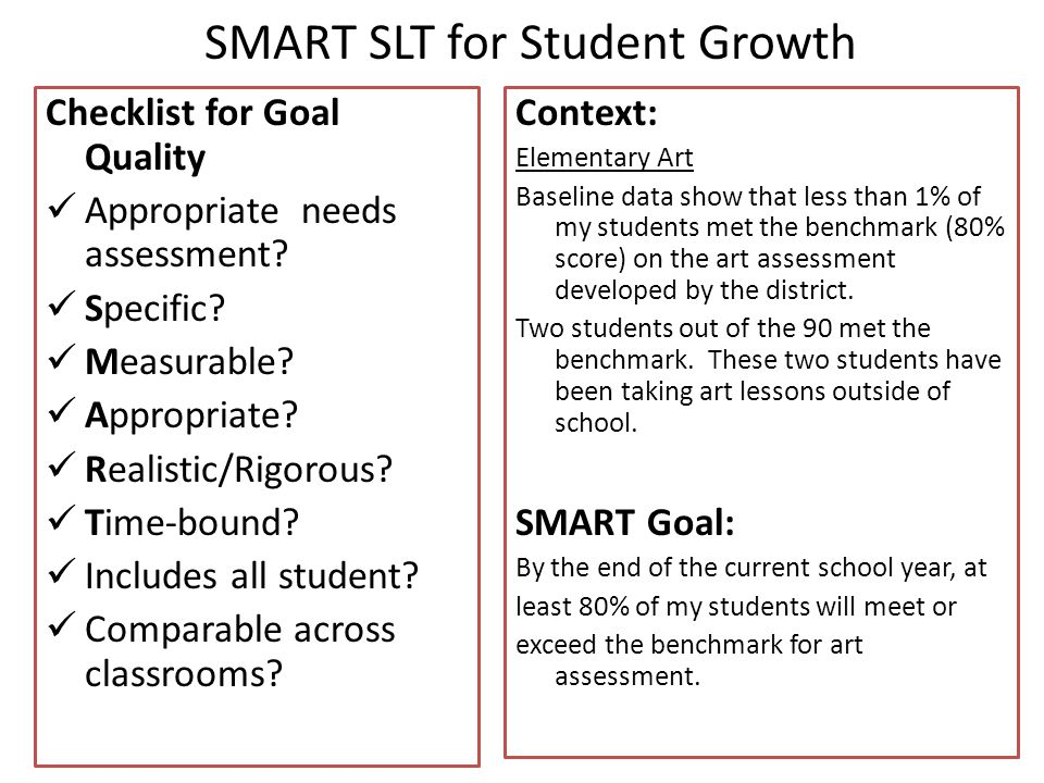 SMART SLT for Student Growth