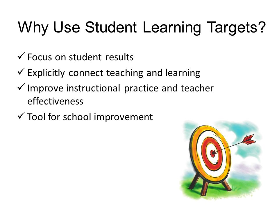 Why Use Student Learning Targets