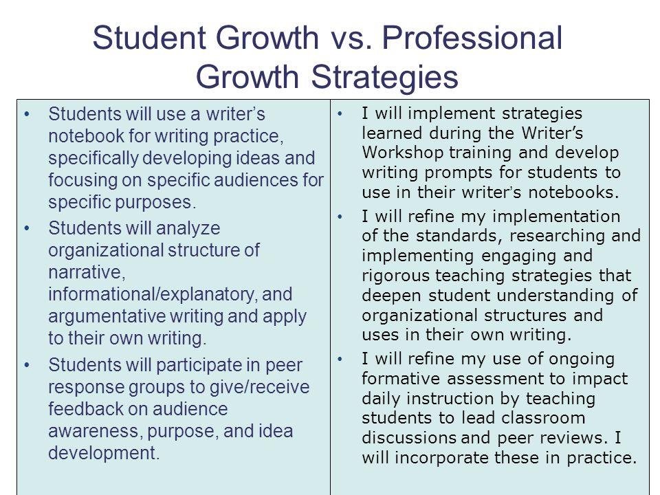Student Growth vs. Professional Growth Strategies