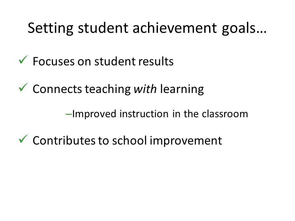 Setting student achievement goals…