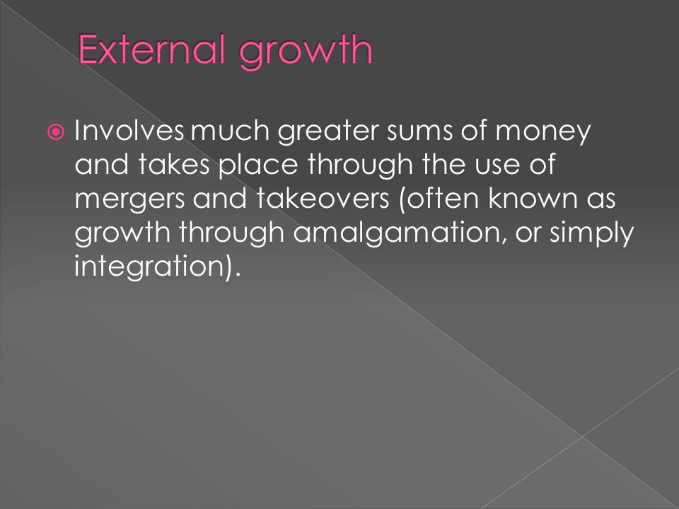 External growth