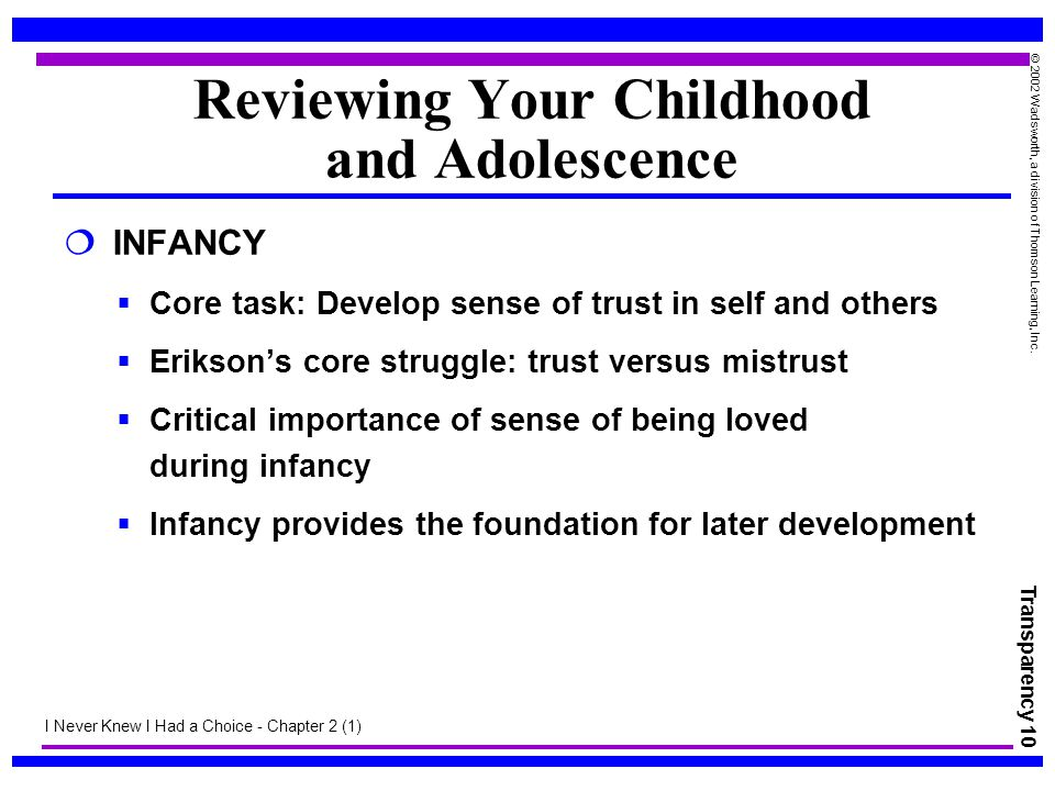 Reviewing Your Childhood and Adolescence