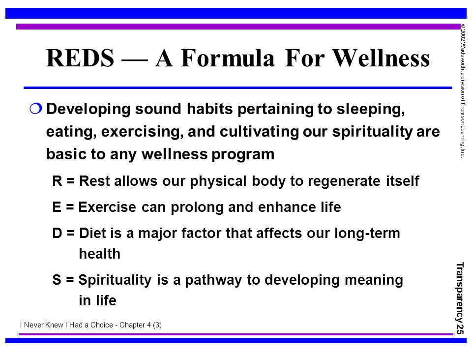REDS — A Formula For Wellness