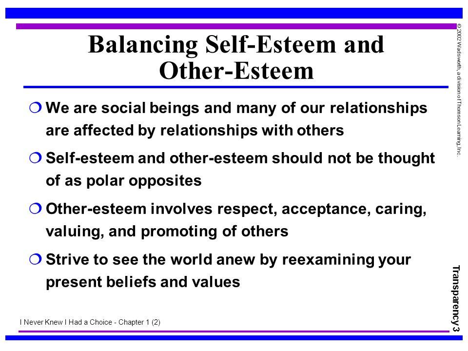 Balancing Self-Esteem and Other-Esteem