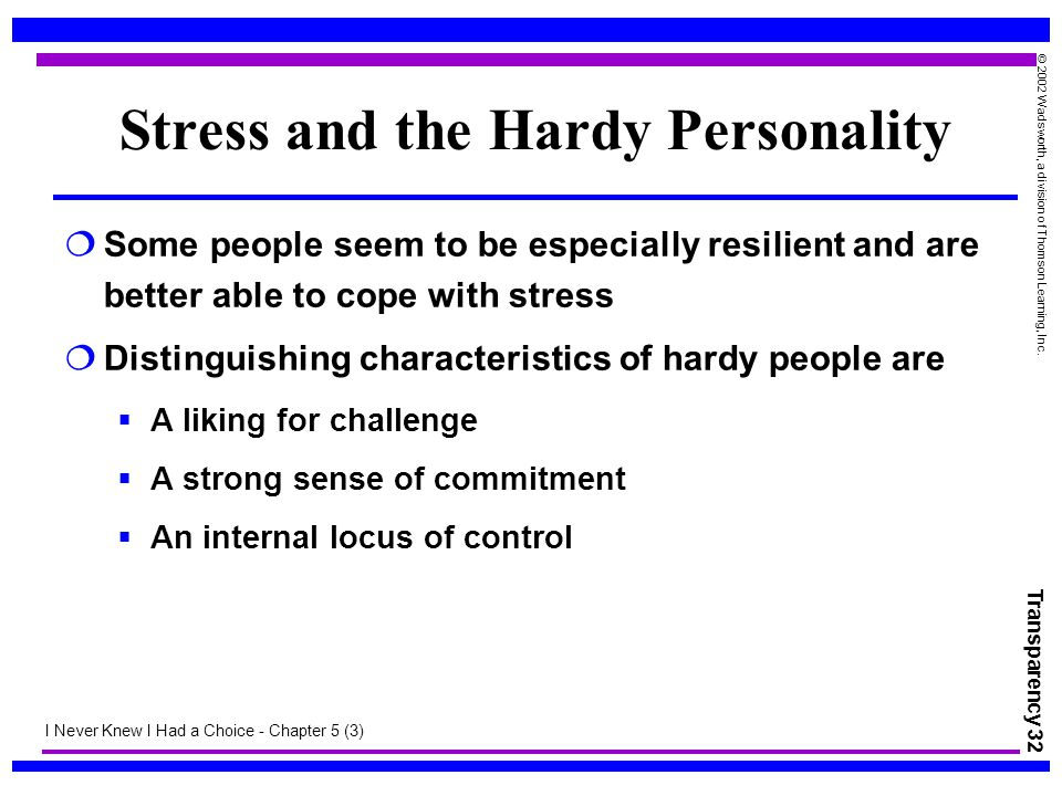 Stress and the Hardy Personality
