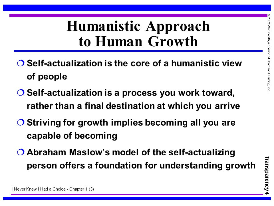 Humanistic Approach to Human Growth