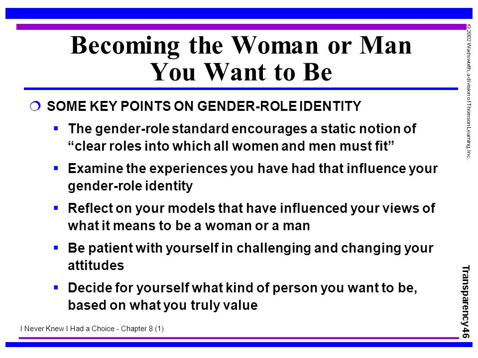 Becoming the Woman or Man You Want to Be