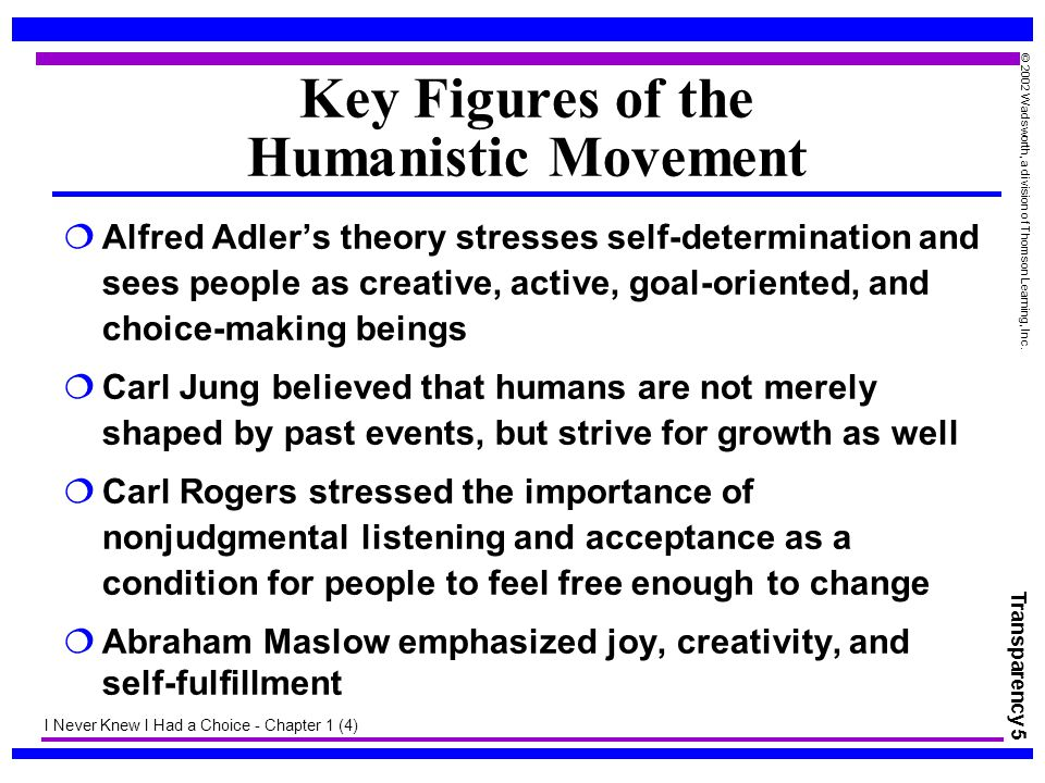 Key Figures of the Humanistic Movement