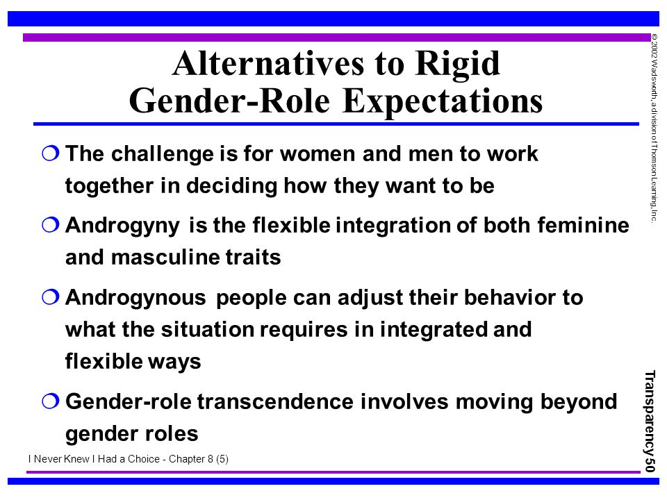 Alternatives to Rigid Gender-Role Expectations