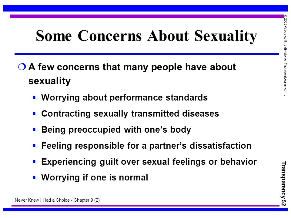 Some Concerns About Sexuality