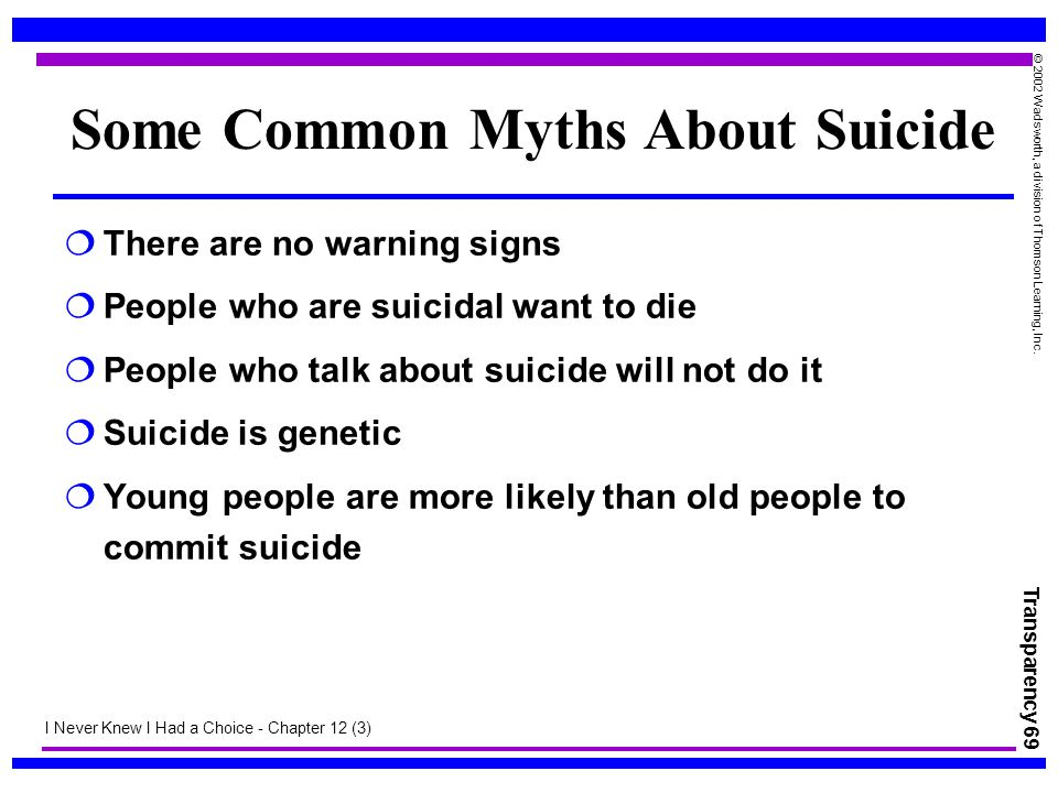 Some Common Myths About Suicide
