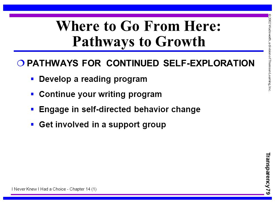 Where to Go From Here: Pathways to Growth