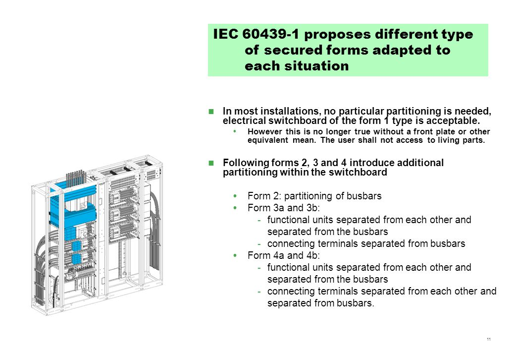 IEC proposes different type of secured forms adapted to each situation