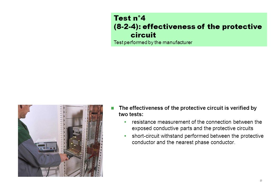 (8-2-4): effectiveness of the protective circuit