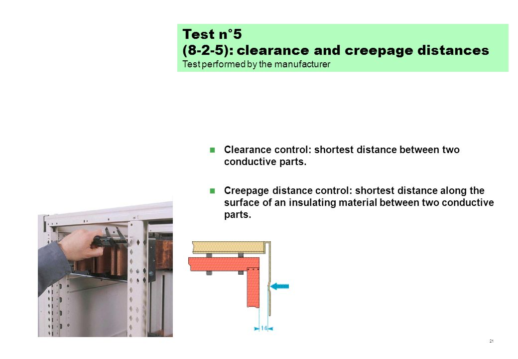 (8-2-5): clearance and creepage distances