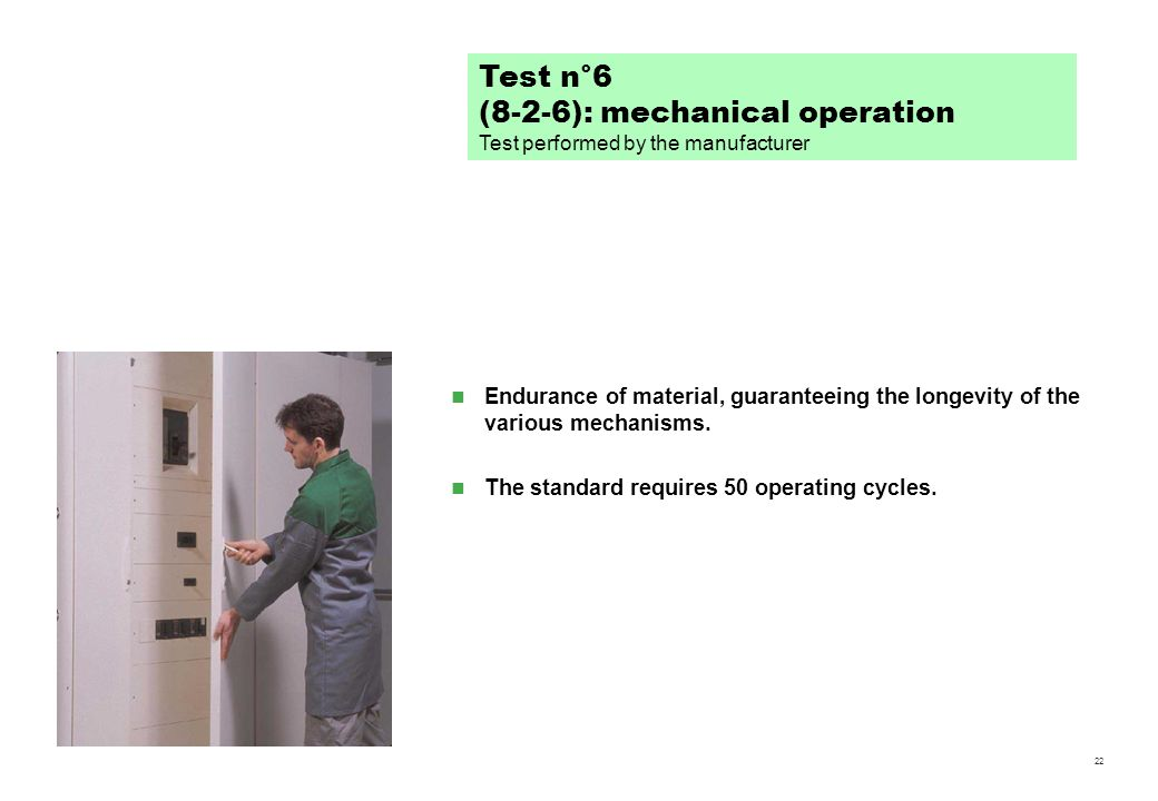 (8-2-6): mechanical operation