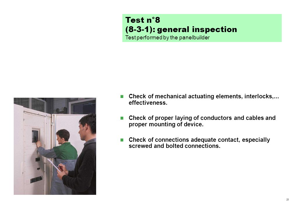 (8-3-1): general inspection