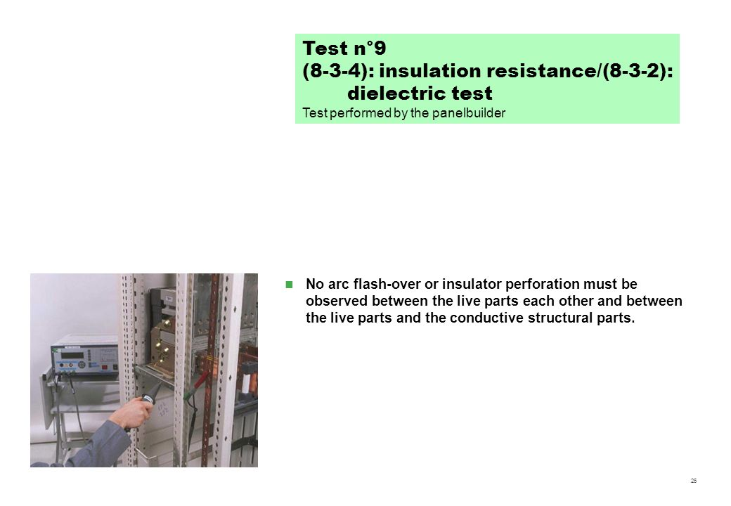 (8-3-4): insulation resistance/(8-3-2): dielectric test