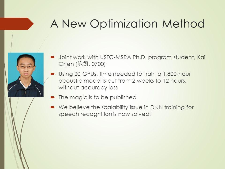 A New Optimization Method