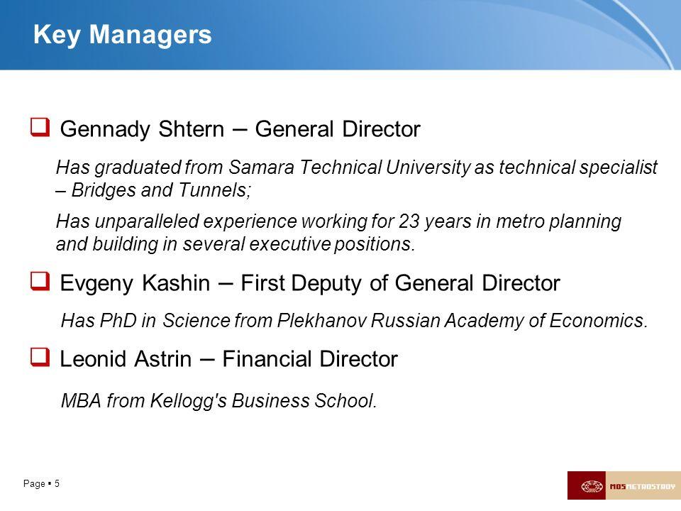 Gennady Shtern – General Director