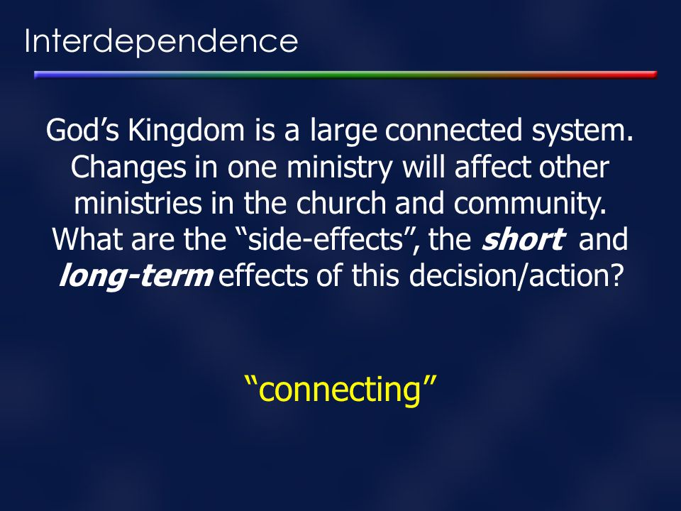 connecting Interdependence