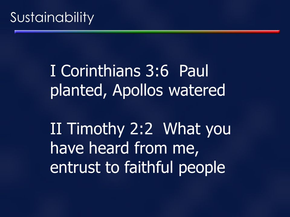 I Corinthians 3:6 Paul planted, Apollos watered