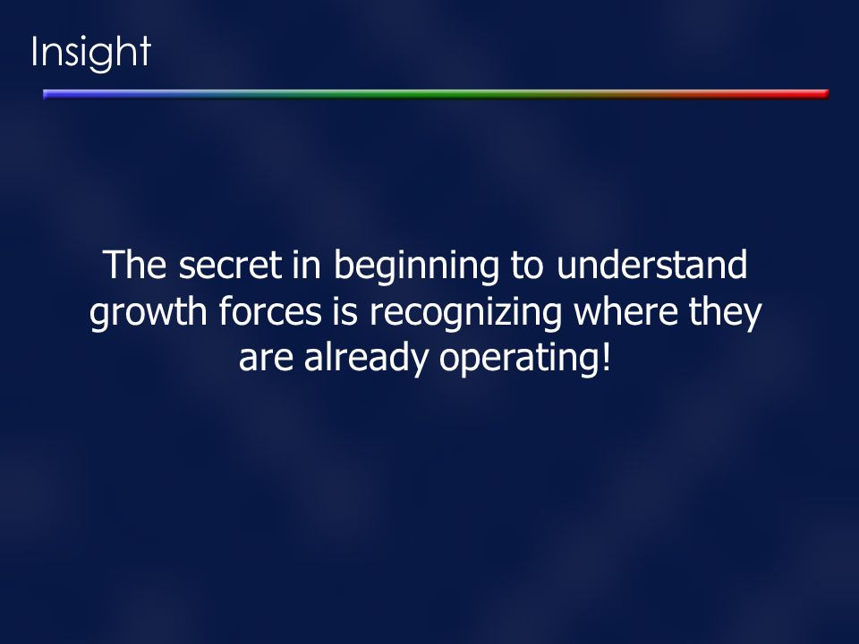 Insight The secret in beginning to understand
