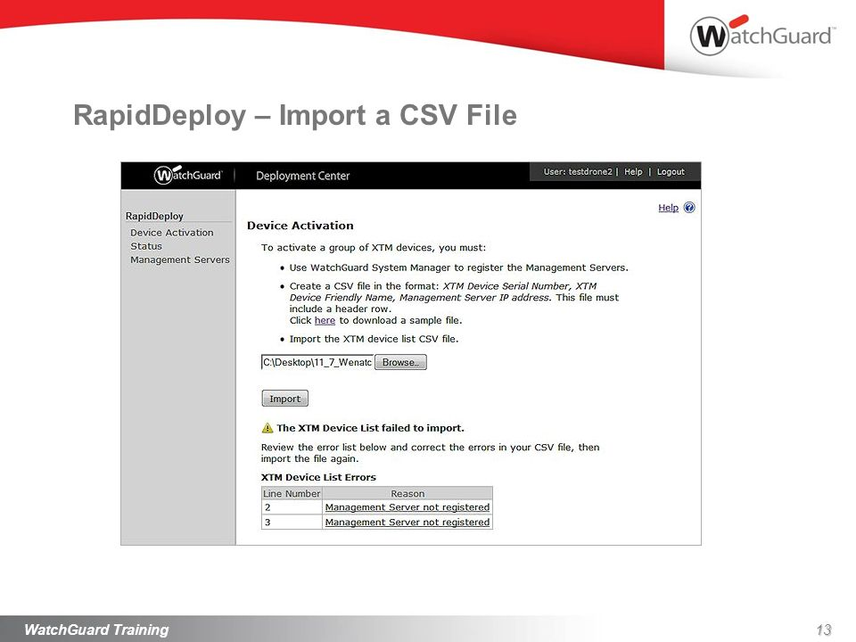 RapidDeploy – Import a CSV File