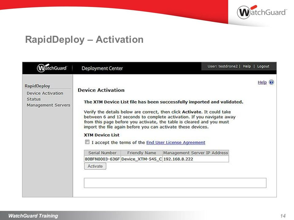 RapidDeploy – Activation