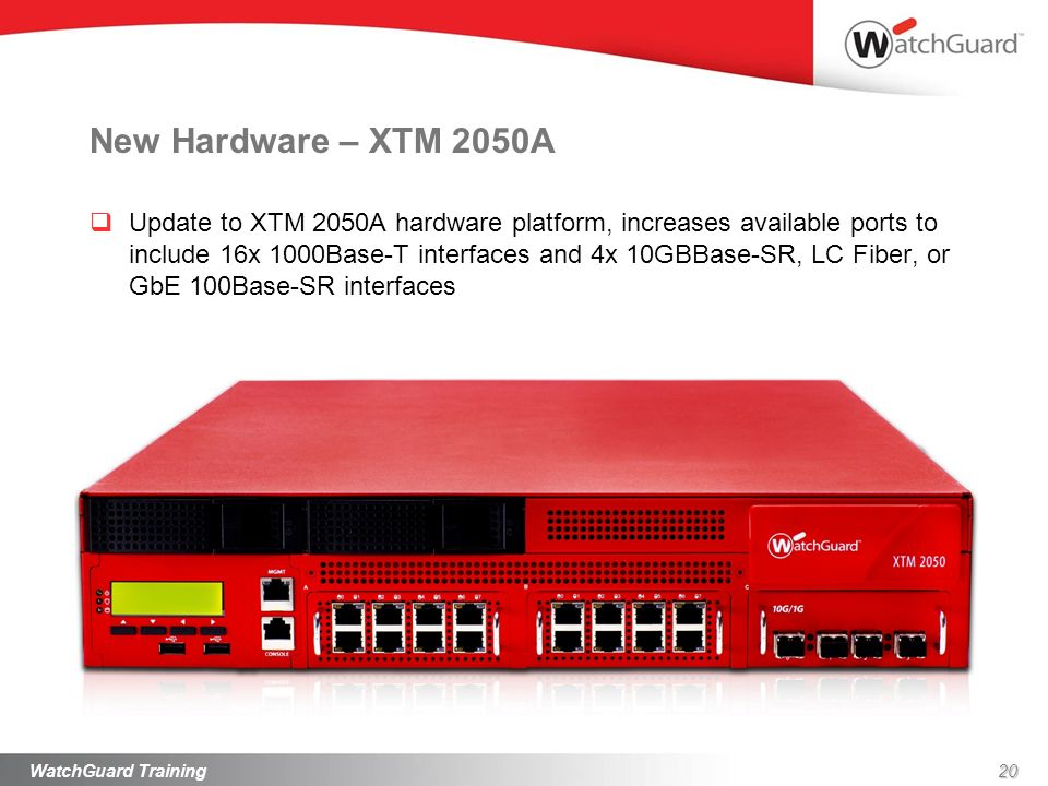 New Hardware – XTM 2050A