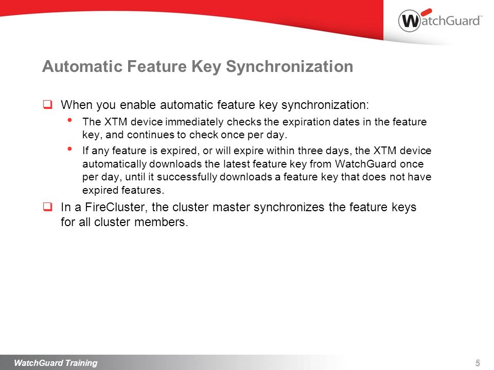 Automatic Feature Key Synchronization