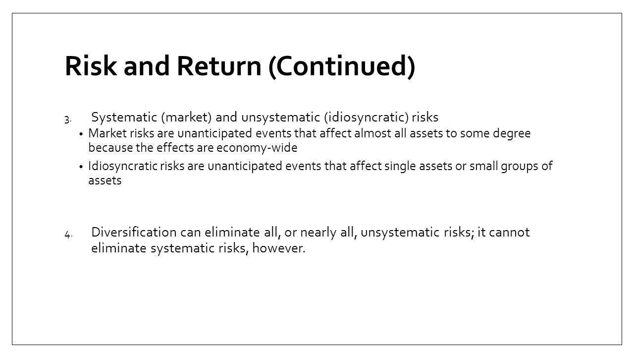 Risk and Return (Continued)