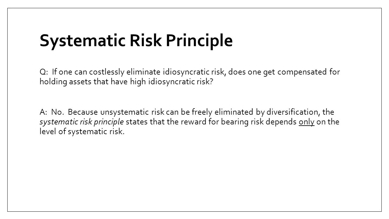 Systematic Risk Principle